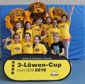 Mädchen 3 Löwen