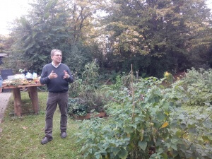 Herr Marysko Garteneinweihung